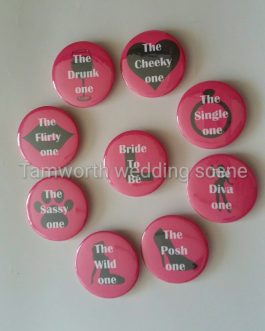 Badge gifts hen night pack of 9 design 1
