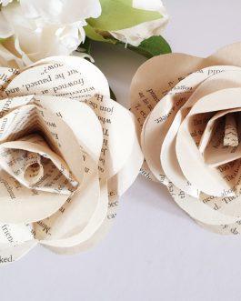 8 Handmade paper roses