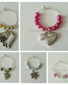 Wine glass charms single