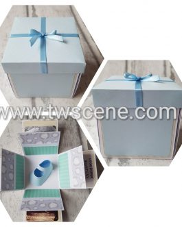 Exploding will you be my, new baby, birthday, christmas card box