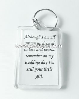 Father/Mother of the Bride acrylic keyring