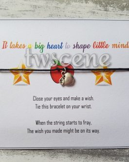 Teacher wish bracelet with optional gift box