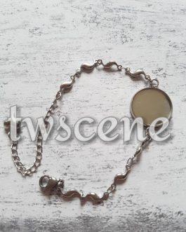 Metal memory photo bracelet
