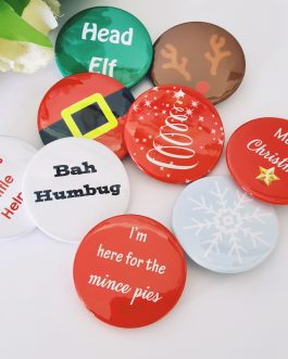 Badge gifts christmas pack of 9