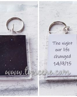 The stars on the day wedding born anniversary gift double sided keyring
