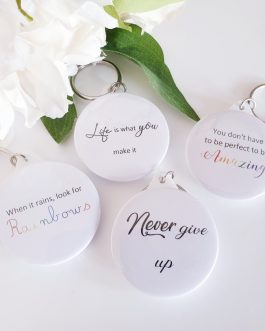 Personalised keyring gift