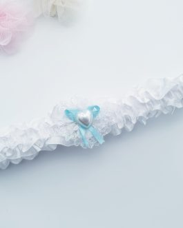 White and blue Garter
