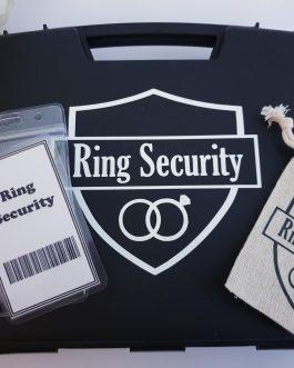 Ring security box page boy gift set wedding item ring bag, box, ID card optional