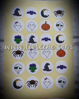 A4 halloween sticker sheet