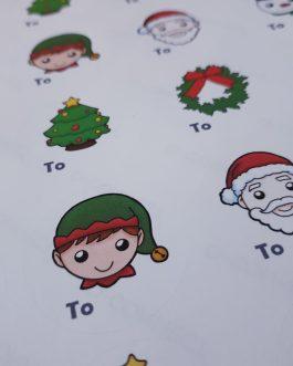 A4 chistmas sticker sheet