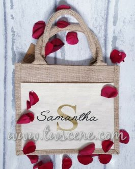 Jute bag with name 'Samantha'