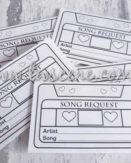 Song request cards for weddings birthdays anniversary party white or kraft 40pcs
