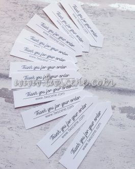 Thank you for your order business promotional banner tags 44pcs white or kraft