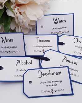 Groom tags