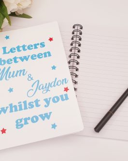 Personalised a5 notebook letters to my daughter/son