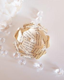 Flat paper rose