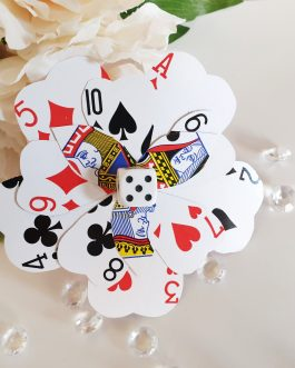 Playing card hairclip or brooch