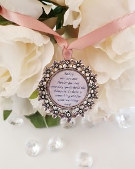 Flower girl bouquet charm