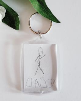 Acrylic drawing keyring