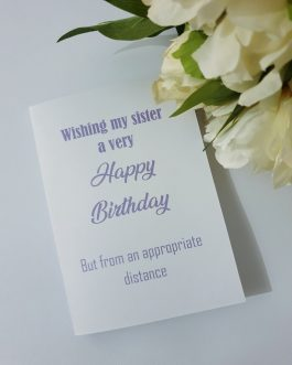 Handmade a6 card happy birthday isolation quarantine social distancing personal
