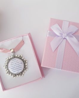 Wedding flower girl bridesmaid pink boxed something old charm gift present name optional