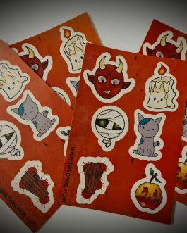 Pack of 4 mini Halloween sticker sheets