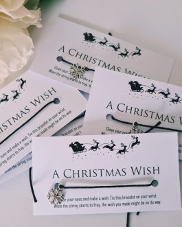 Christmas wish bracelets 10pcs