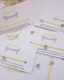 Inspirational bee yourself affirmation card wish bracelet stall business 10pcs