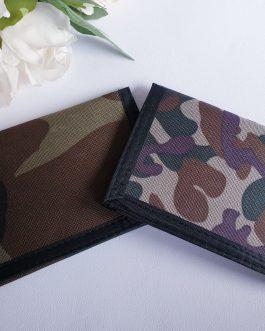 Personalised camo wallet gift birthday wedding name added