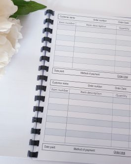 Business order book a5 size two per sheet stationery design 2