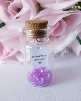 Message or photo in a bottle will you be my bridesmaid godparent flowergirl gift box