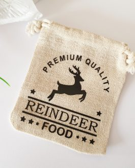 Reindeer food bags Christmas eve boxes with tag small jute bag only