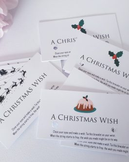 Christmas wish bracelets card only 40pcs present business craft stall pta
