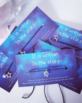 Written in the stars affirmation card wish bracelet stall business gift 10pcs